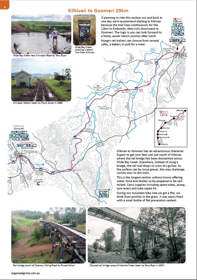 Rails To Trails Idaho Map.Kilkivan To Kingaroy Rail Trail Guide Mark S Maps